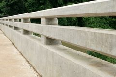 The concrete parapet. The parapet made from concrete Royalty Free Stock Images
