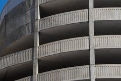Concrete Parking Ramp. Concrete ramp for exiting parking structure Stock Photos