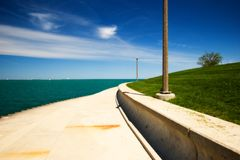 Concrete Path. With leading lines Stock Images