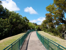 Concrete Path with Railings at the Ualaka'a lookout Royalty Free Stock Photo