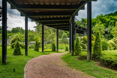 Concrete Pathway in garden Royalty Free Stock Photography