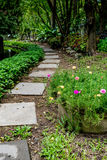 Concrete Pathway in garden Stock Photography