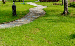 Concrete Pathway in the park Royalty Free Stock Images