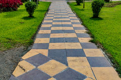 Concrete Pathway in the park Royalty Free Stock Photography