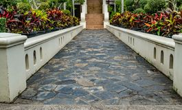 Concrete Pathway in the park Royalty Free Stock Image