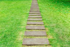 Pathway step in the garden Royalty Free Stock Image