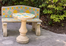 Concrete patio furniture Royalty Free Stock Photos