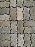 Concrete pave block floor stock image