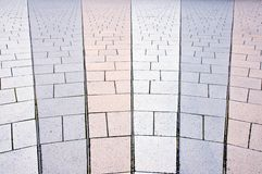 Concrete pavement Stock Images