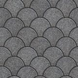Concrete Pavement as Squama. Seamless Tileable Texture. Stock Images
