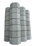 Concrete pavement blocks Stock Images