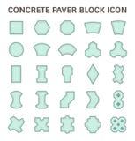 Concrete paver block. Or paver brick vector icon sets Stock Photo