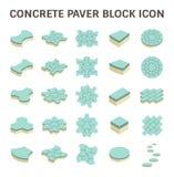 Paver Block Floor. Concrete paver block floor vector icon set Royalty Free Stock Photo