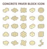 Paver Block Floor. Concrete paver block floor vector icon set Stock Photography