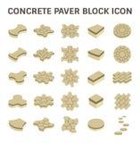 Paver Block Floor. Concrete paver block floor vector icon set Royalty Free Stock Images