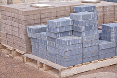 Concrete pavers Stock Images