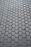 Concrete paving block. On street royalty free stock image