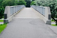 Concrete pedestrian bridge Stock Images