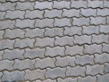 Concrete road of tiles Stock Images