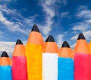Concrete Pencil colorful cloud sky. Royalty Free Stock Images