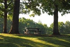 Concrete picknicklijst Royalty-vrije Stock Fotografie