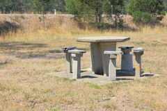 Concrete picnic table and seats Royalty Free Stock Image