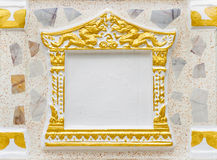 Concrete picture frame Royalty Free Stock Photography