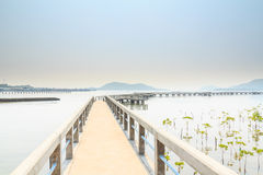 Concrete pier. Royalty Free Stock Photos
