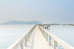 Concrete pier. Royalty Free Stock Photo
