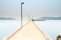 Concrete pier. Royalty Free Stock Photography