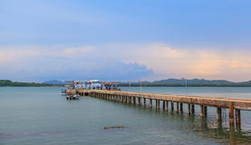 Concrete Pier In Chanthaburi Bay Stock Image