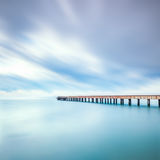 Concrete pier or jetty on a sea. Marina di Carrara, Tuscany, Ita Royalty Free Stock Photography