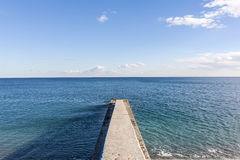Concrete pier Royalty Free Stock Image