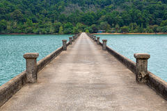 Concrete pier Thailand Royalty Free Stock Photo