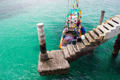 Concrete pier to the sea in Lan island Royalty Free Stock Image