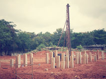 Concrete piles Royalty Free Stock Photo