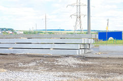 Concrete piles Royalty Free Stock Photo