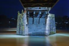 Concrete pillar of the historical bridge in Bad Saeckingen Royalty Free Stock Images