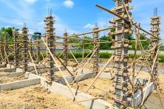 Concrete pillar mold for house construction. Photo concrete pillar mold for house construction Stock Photography