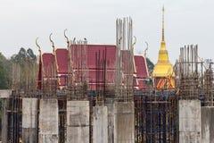 Concrete pillar pagoda church. Royalty Free Stock Photos