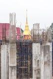 Concrete pillar pagoda church. Stock Images