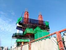 Concrete pillar is under construction Royalty Free Stock Photos
