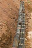 Concrete pillars erosion protection Stock Image