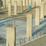 Concrete Pillars Foundation Underground Parking Royalty Free Stock Photos