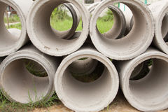 Concrete pipe. Stock Images