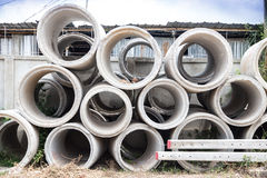 Concrete Pipe Stock Photos