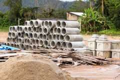 Concrete pipe Stock Image