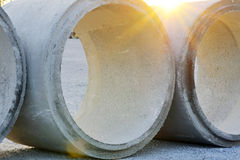 Concrete pipe Stock Photos