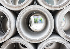 Concrete pipe Royalty Free Stock Image