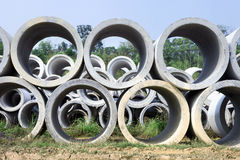 Concrete pipe Stock Photography